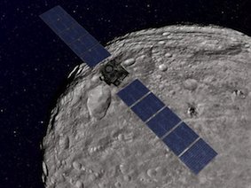 Nasa's leaving party for asteroid Vesta