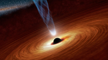 Speedy black hole holds galaxy's history