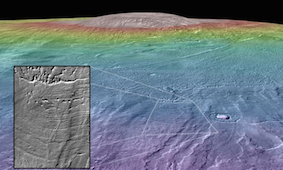 Mars volcano may have been site for life